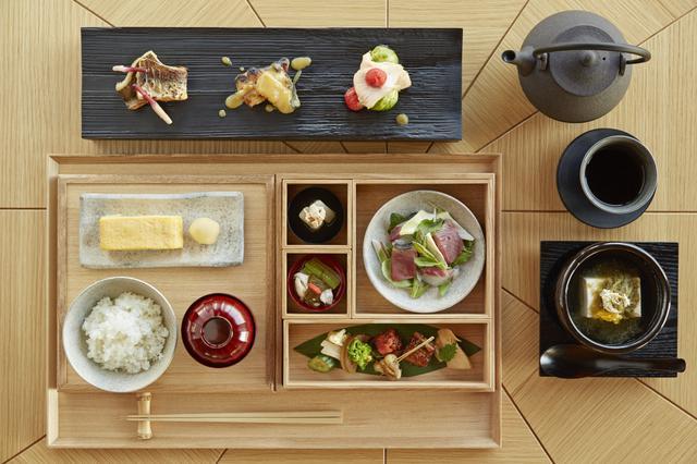 画像: 白木箱にて提供される和箱朝食 気持ちの良い一日は朝食からはじまる 朝食の内容は変更になる場合がございます