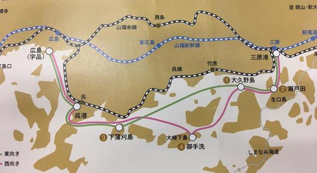 画像: 西向きコース 大久野島、御手洗に上陸し自由散策
