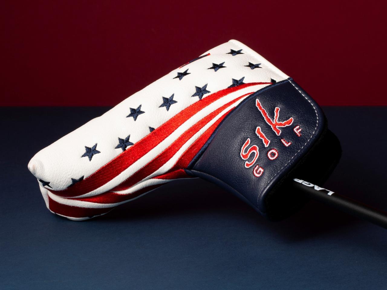 画像: アメリカ国旗をモチーフにしたオリジナルヘッドカバー