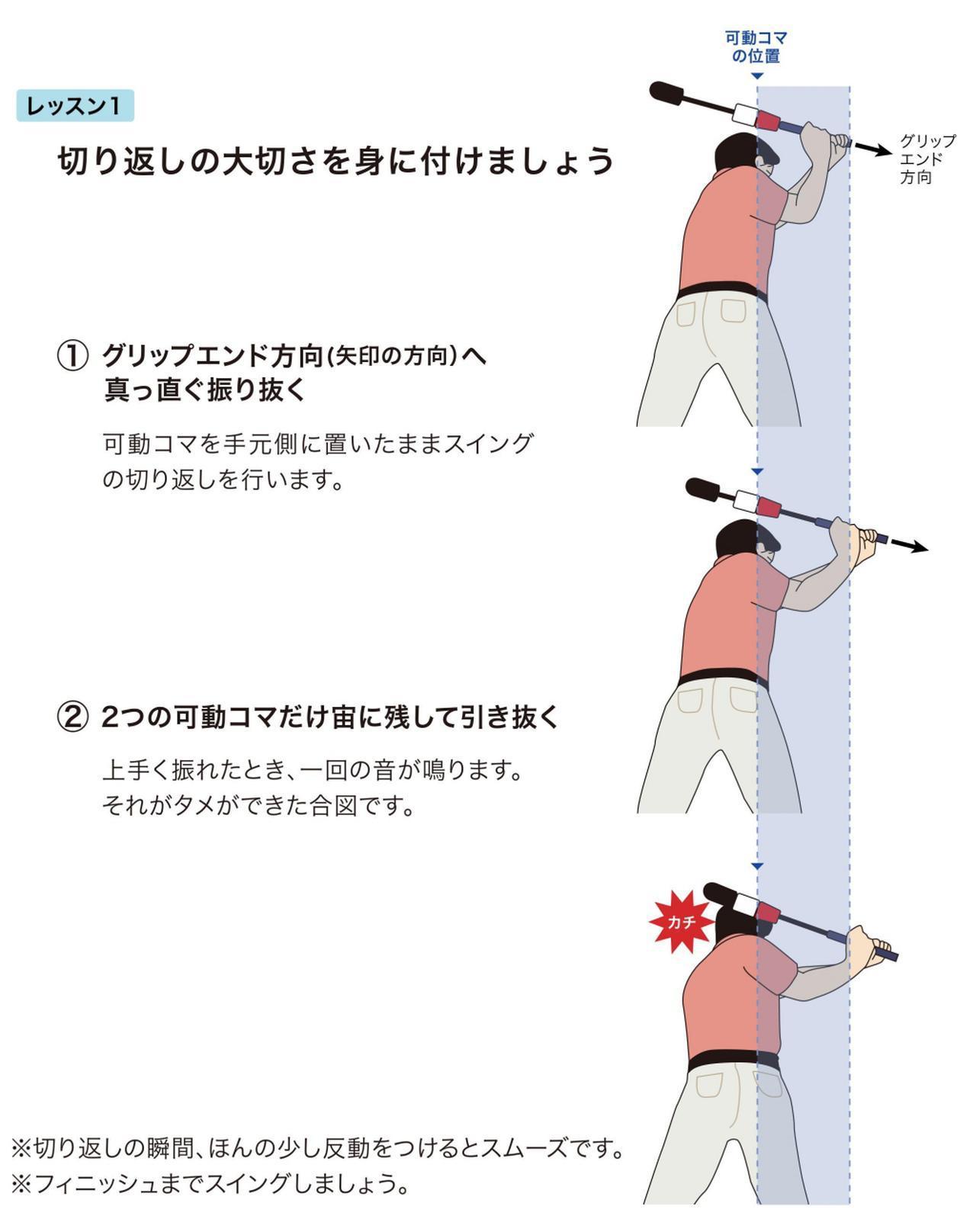 画像1: 使ったプロが大絶賛 固定された先端のコマで、可動コマを叩く!