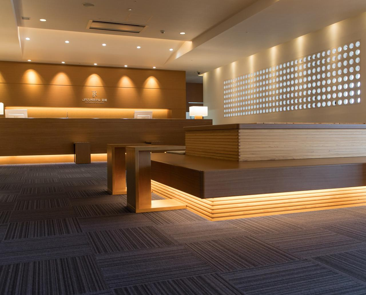 画像: JR九州ホテル宮崎 フロントロビー