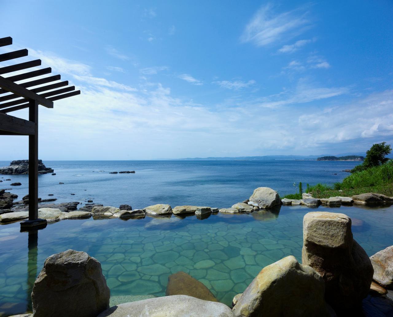 画像: 浜千鳥の湯 海舟 露天風呂からの絶景