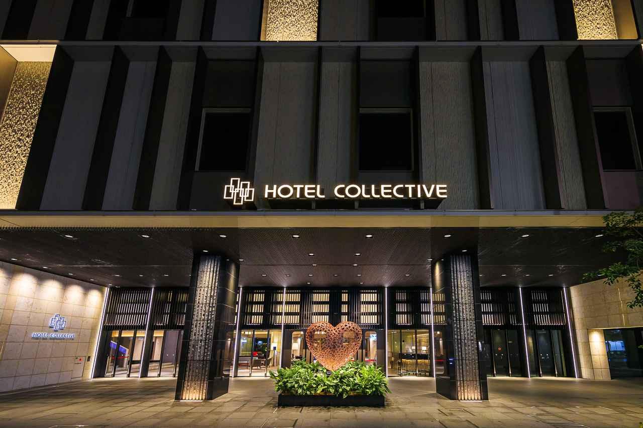 画像: ホテルコレクティブ 国際通り沿いからの正面玄関