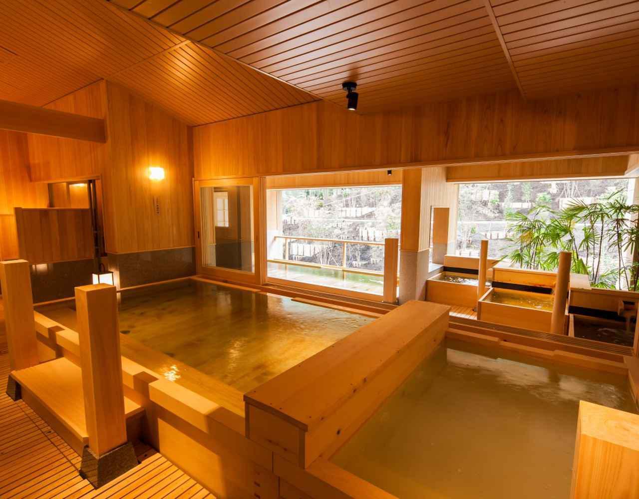 画像: 檜の香りが漂う大浴場「社(やしろ)の湯」