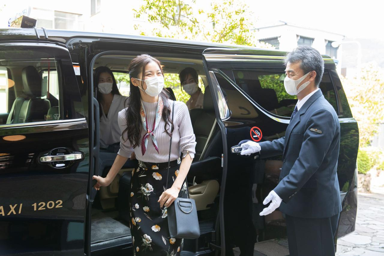 画像: 「ゴルタク」プラン タクシー送迎の様子