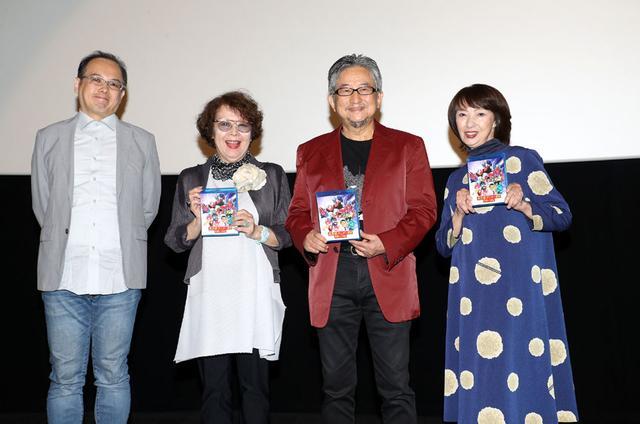 画像: 左から五十嵐、松島みのり、永井豪、吉田理保子