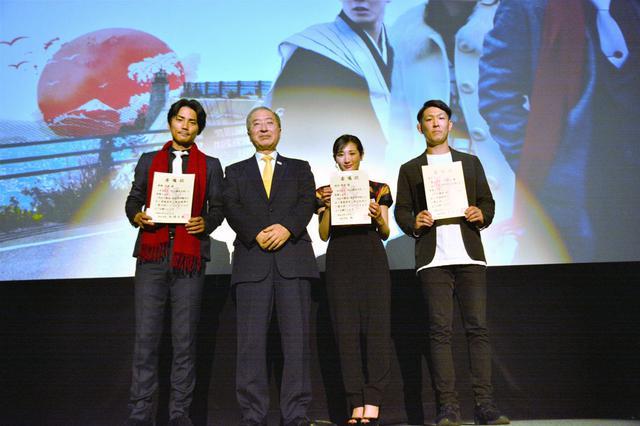 画像1: 世界中で評価の高まる映画「いざなぎ暮れた。」、撮影地での先行公開スタート。出演者・スタッフが、松江市長から観光大使に任命!