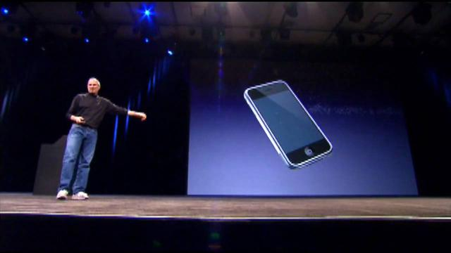 "画像: Steve Jobs: ""Who wants a stylus?"" - Apple - Steve Jobs at Macworld 2007 in San Francisco youtu.be"