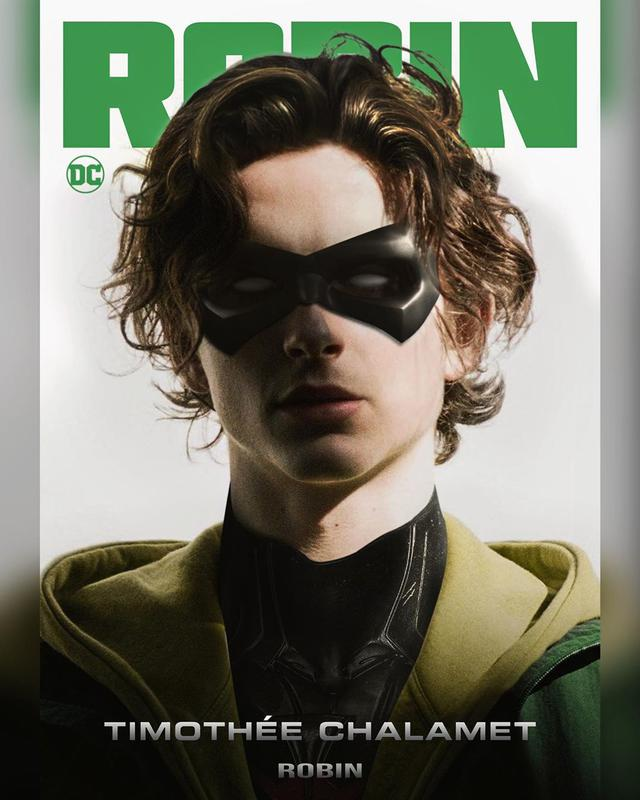"画像1: Mizuri on Instagram: ""Timothée Chalamet // Robin .  Remixed @tchalamet's cover from @dazedchina into Robin from @dccomics. I still think he's the perfect cast…"" www.instagram.com"