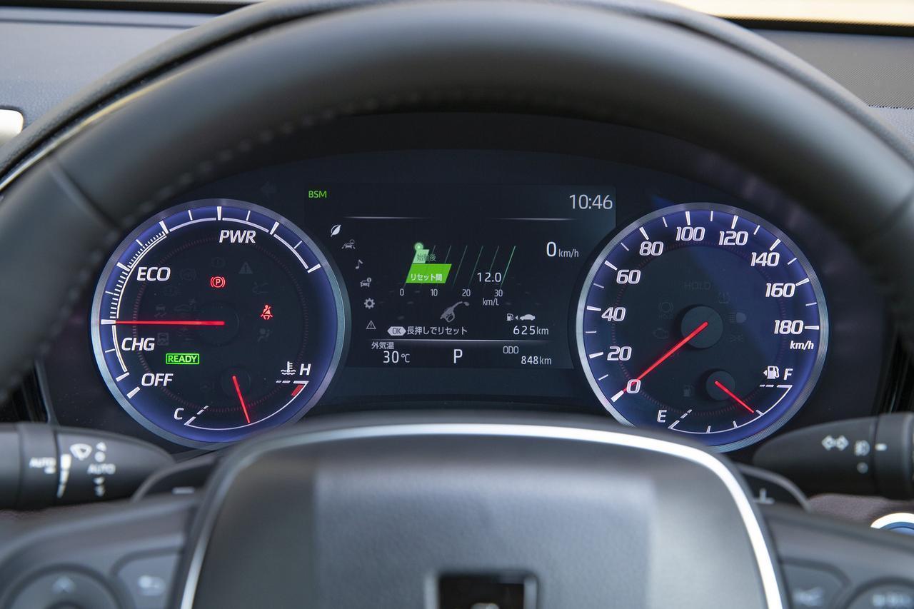 画像: Gのメーター。右に180km/hスケールの速度計、左にパワーインジケーターの2眼タイプ