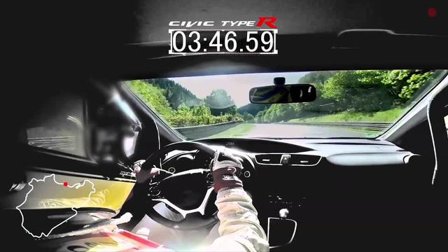 画像: 2015 Civic Type R development car achieves Nürburgring lap time of 7:50.63 seconds 2015年シビックTypeRのニュル走行。一周7分50.63秒、到達最高速度は270キロ www.youtube.com