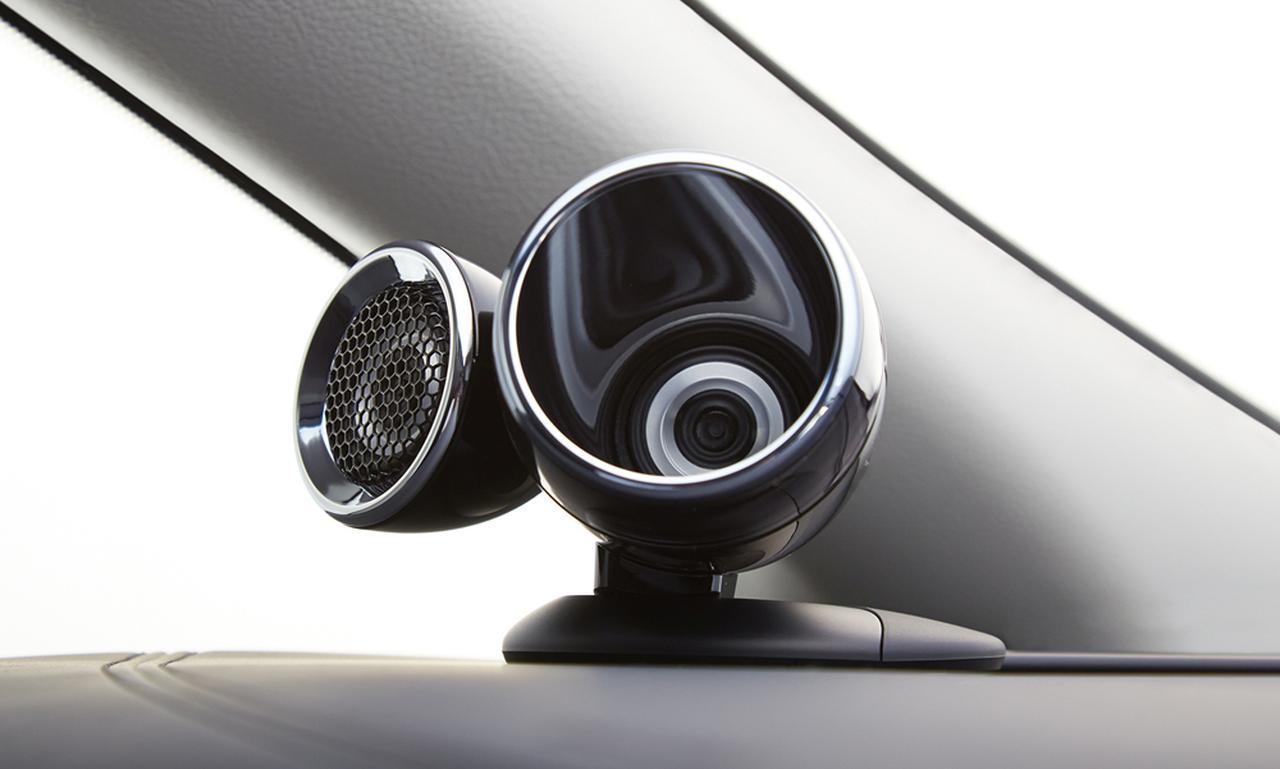 画像: 向きが異なる2基の高音用スピーカーで、理想的な音場再生を狙う