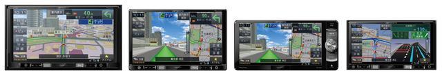 画像: 左から9V型モデルAVIC-RQ902、8V型モデルAVIC-RL902、7V型200mmモデルAVIC-RW902、7V型メカレスモデルAVIC-RZ102。