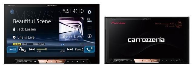 画像: 左が12月発売の8V型サイバーナビχシリーズAVIC-CL902XS、右は既発売の7V型モデルAVIC-CZ902XS。