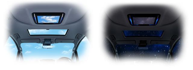 画像: ムードピクチャー「青空」(左)と「星空」(右)のイメージ。
