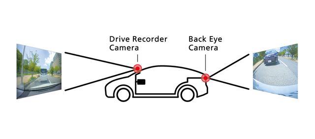 画像: DシリーズAVNは、前後の映像を同時に録画可能なシステムに対応する。