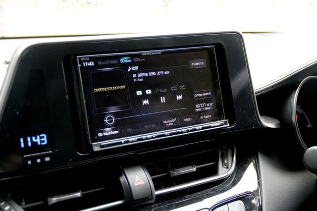 画像: ダイヤトーンサウンドナビNR-MZ200でメモリー再生によるデモンストレーションが行われる予定。サウンドチューニングはAVナビのDSP機能には頼らず、JBL製品で調整しているという。