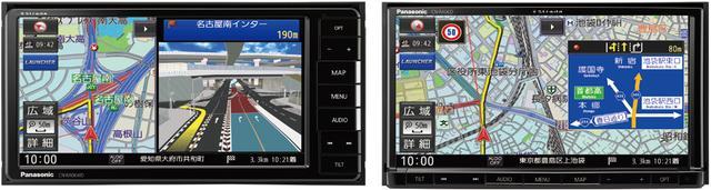 画像: DVDプレーヤー内蔵CN-RA06WD(左)とCN-RA06D(右)
