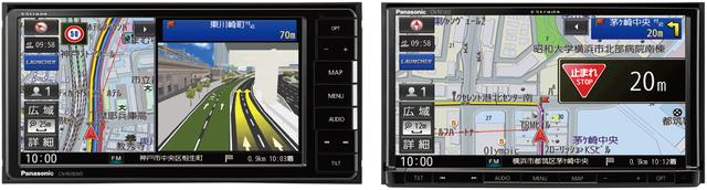 画像: DVDプレーヤー内蔵CN-RE06WD(左)とCN-RE06D(右)