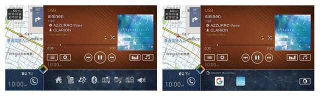 画像: 右下のショートカット表示エリアは、ショートカットボタンやアプリアイコンなど切り替えが可能。さらに表示させたいボタンやアイコンの編集も自在だ。
