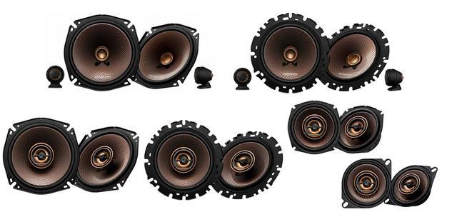 画像: KFC-RS174S(上段左)、KFC-RS164S(上段右)、下段左からKFC-RS174、KFC-RS164、KFC-RS124、KFC-RS104。
