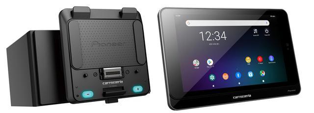 画像: クレイドルメインユニットFH-7600SC(左)とタブレットSDA-700TAB(右)