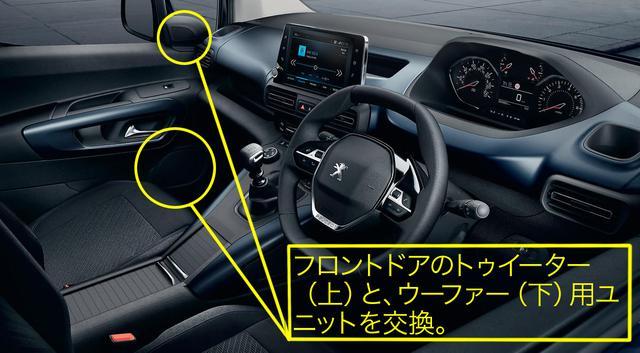 画像: プジョー リフターのDOPオーディオにビーウィズ製専用スピーカーが設定。納車後の車両でもオーダー可