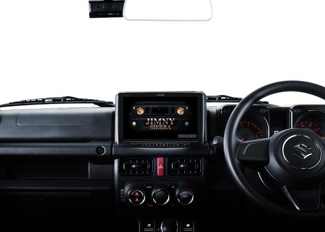 画像: 9インチモデルDAF9Vの車両装着イメージ(画像はスズキ ジムニー)。