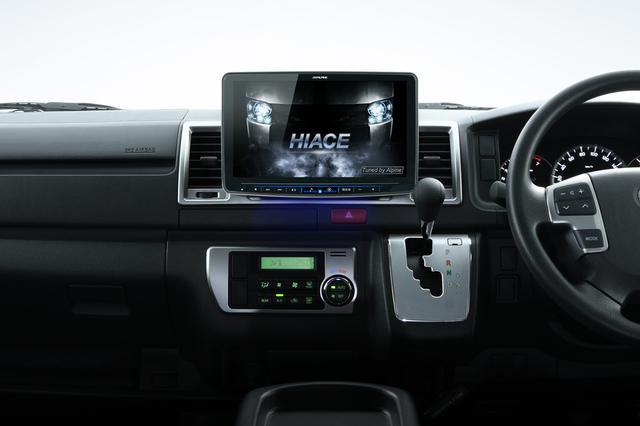 画像: 2021年ビッグXの車両装着イメージ。トヨタ ハイエース<H25/12 ~現在>、11型画面フローティングディスプレイモデルXF11NX2 & KTX-XF11-HI-200-NR(ハイエース専用取付けキット)。