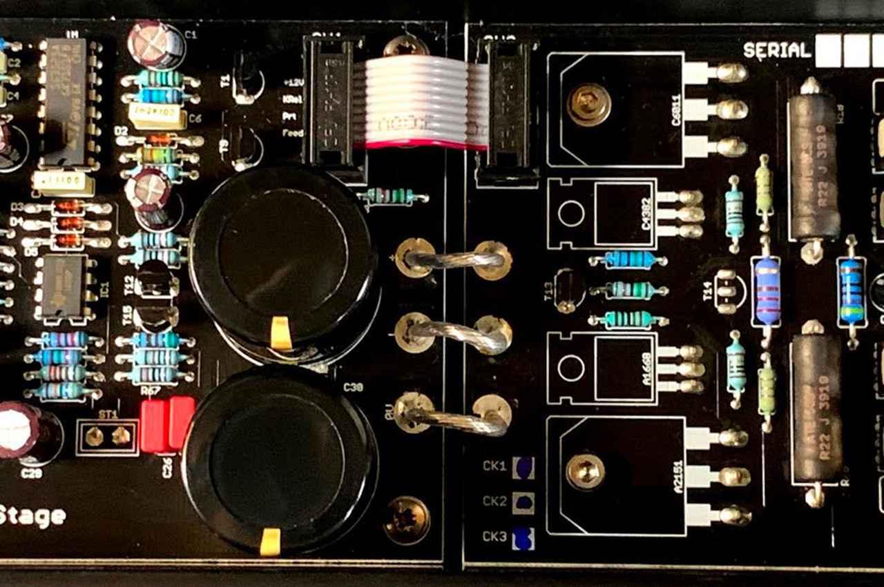 画像: 電源回路に採用されたサンケン製トランジスターはコレクタエミッタ間飽和電圧VCE(sat)が非常に低く、高いパフォーマンスを発揮するという。