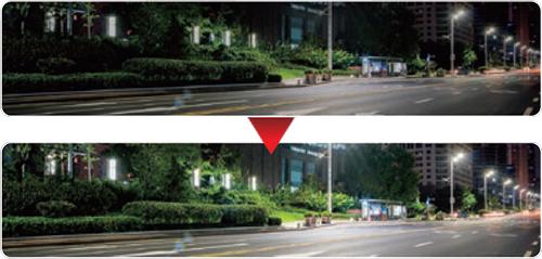 画像: STARVIS CMOSセンサーにより、夜間でも鮮明な撮像が可能。