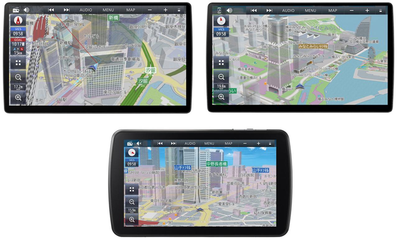 画像: CN-F1X10BHD(上左)、CN-F1X10HD(上右)、CN-F1D9HD(下)