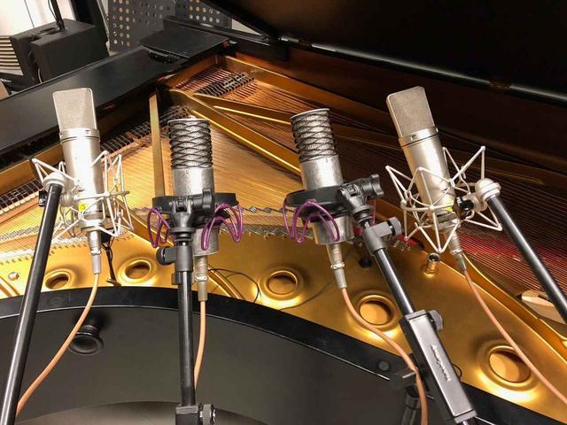 画像: 今回はジャズ・ピアノの録音で、「Neumann U87Ai」と「Spirit」がメインに使用された