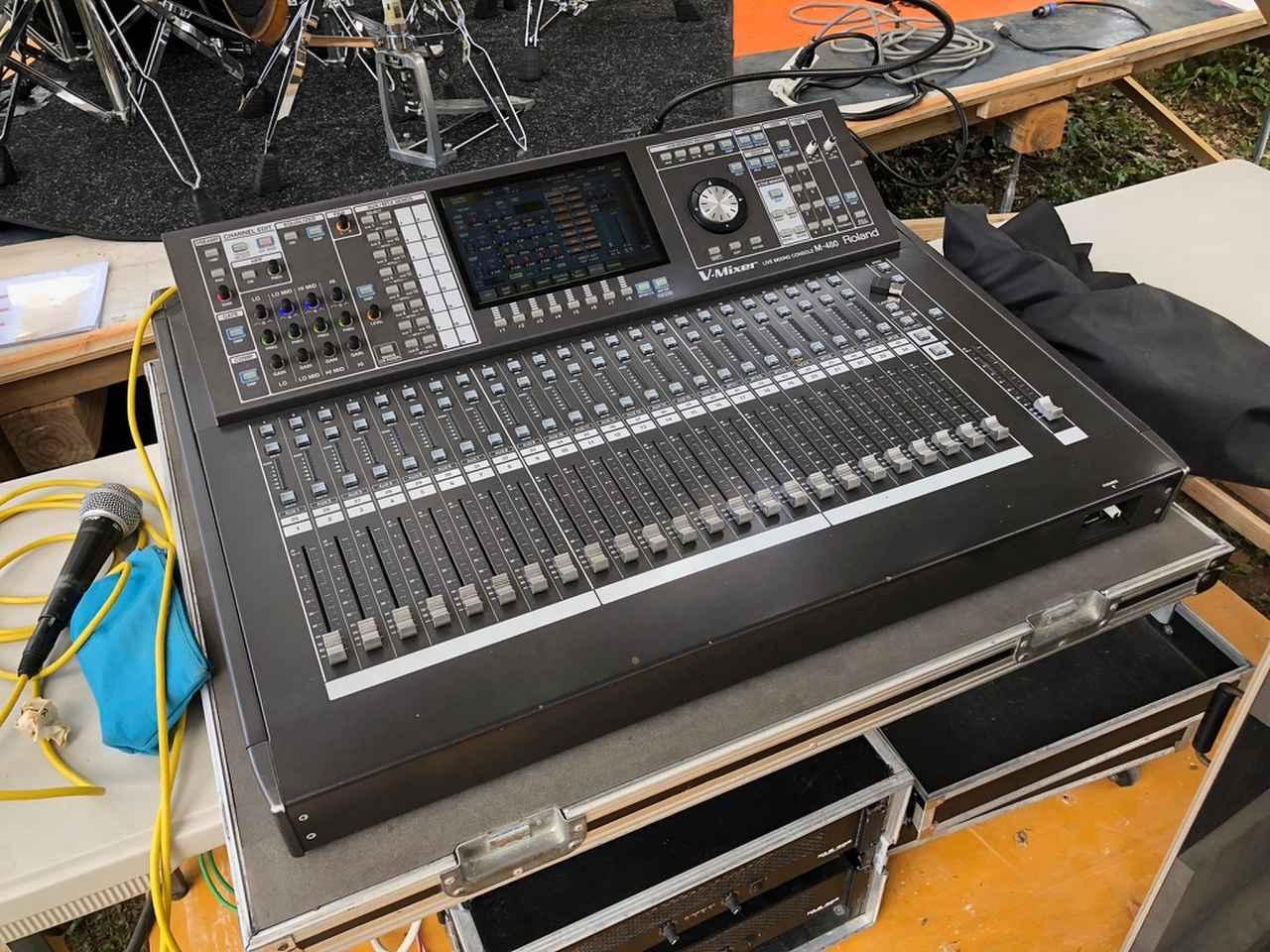画像: 『グッドネイバーズ・ジャンボリー』の別のエリアで使用された「ローランド V-Mixer M-480」
