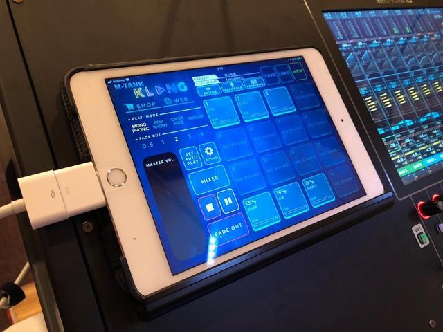 画像: ポン出し用に使われているApple iPad。「M-5000」の左上に置かれている