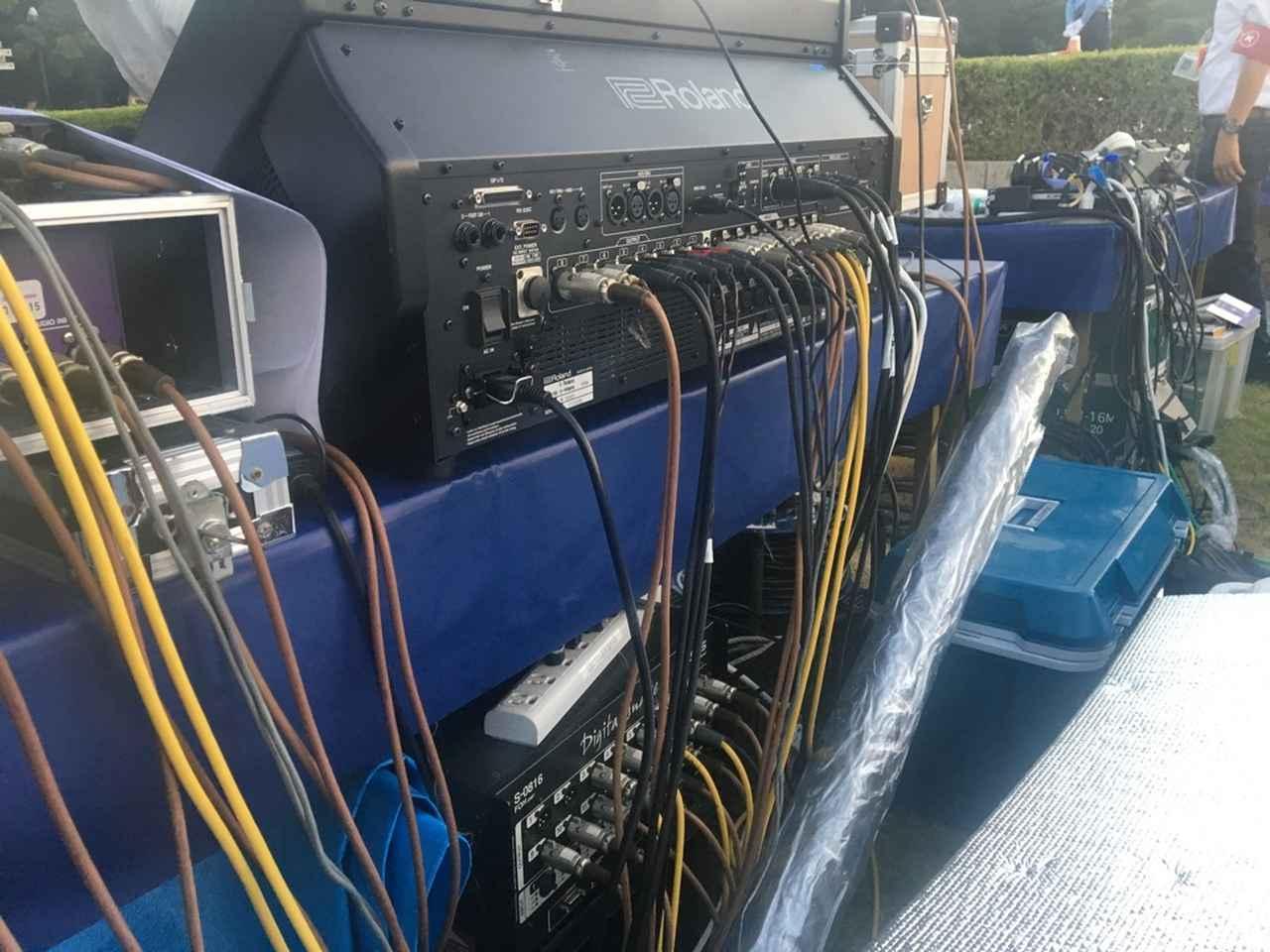 画像: 「M-5000C」の下に置かれているのは、音声を各ラジオ局やテレビ放送の幹事社に送出するための「S-0816」