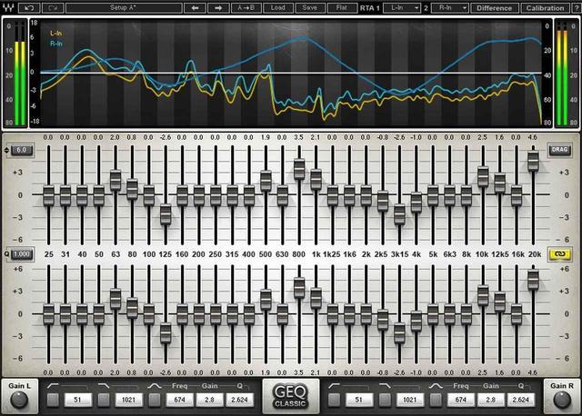 画像: 30バンド使用のグラフィックEQプラグイン「Waves GEQ」