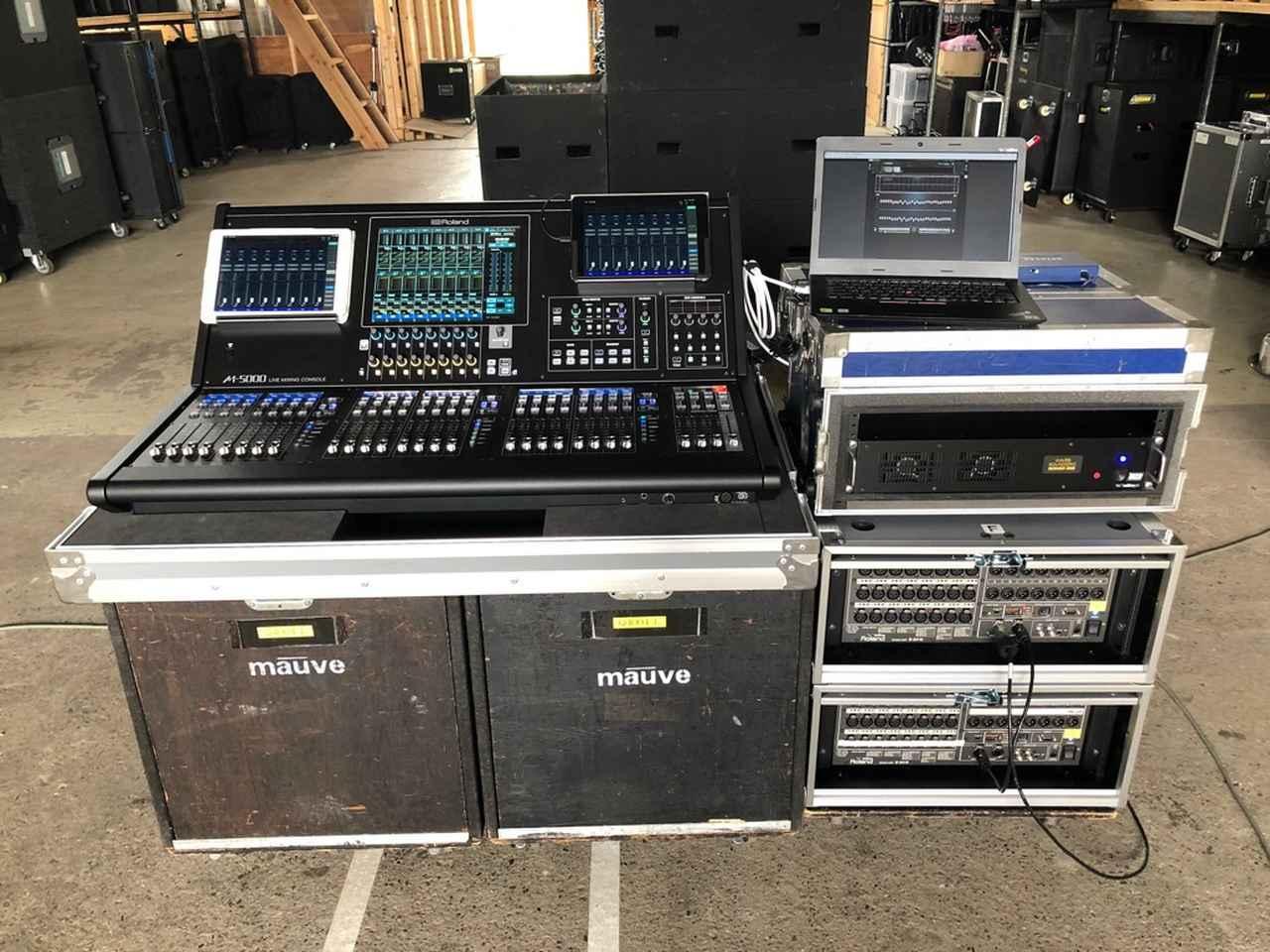 画像: 「モウブ」が導入した「ローランド M-5000」のシステム