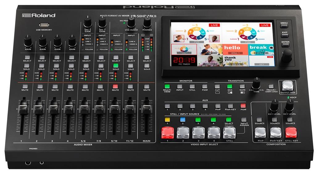 """画像1: 「ローランドVR-50HD MK II」映像と音声を一元的に扱える""""AVミキサー""""の最新鋭モデルが登場。業務用ミキシング・コンソールに匹敵する高音質を実現【PROSOUND特別企画】"""