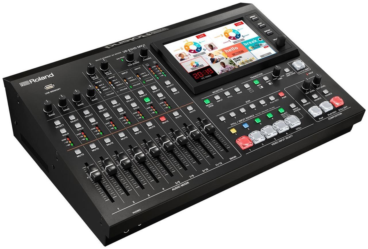 画像: ローランドの新製品、VR-50HD MK II。映像の切り替え/合成、音声のミックス、USBストリーミングを1台で行うことができるAVミキサーのフラッグシップ・モデル