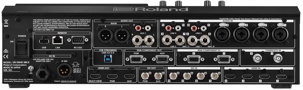 """画像2: 「ローランドVR-50HD MK II」映像と音声を一元的に扱える""""AVミキサー""""の最新鋭モデルが登場。業務用ミキシング・コンソールに匹敵する高音質を実現【PROSOUND特別企画】"""
