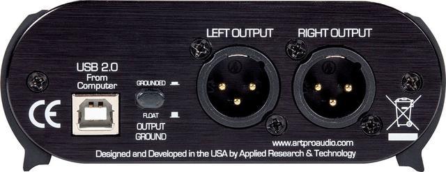 画像2: 日本エレクトロハーモニックス、パソコンのUSB出力をPAやオーディオ・システムに繋ぐDIボックス ART「USB DI」を発売。高品質なD/Aコンバーターを内蔵