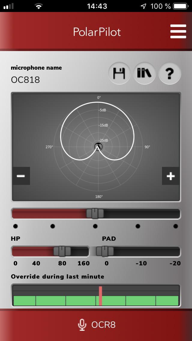 画像: 「OC818」のパターンをコントロールするスマートフォン用アプリ、「PolarPilot」。iOS/Android対応