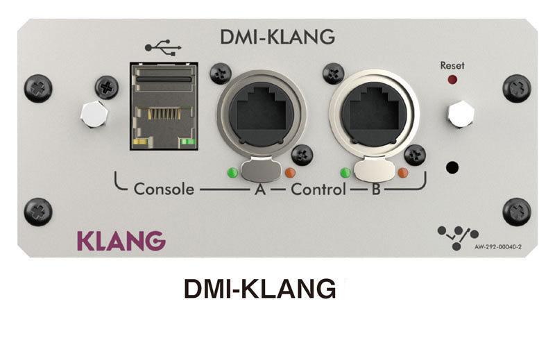 画像: 入出力拡張用のDMIカードを2枚挿入可能