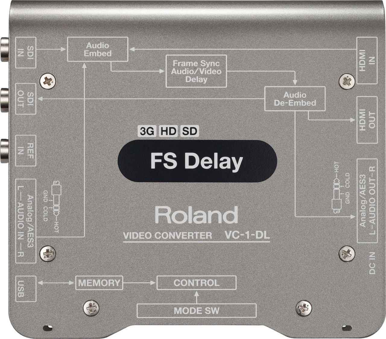 画像: 写真②:FSディレイ機能を持ったローランドのビデオ・コンバーター、VC-1-DL