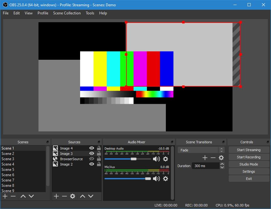 画像: 配信ソフトウェアのOBS Studio