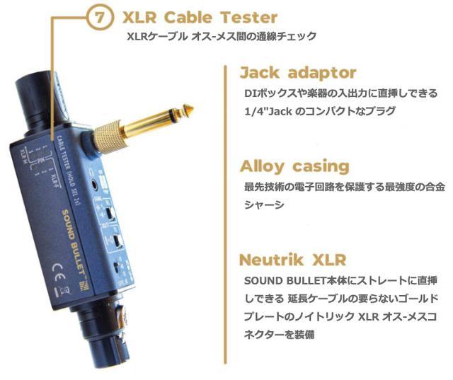 画像8: ポケットサイズで、音声信号や通線の入出力がチェックできる!SONNECT AUDIO社のポータブル型オーディオテスター「サウンドバレット」が発売中