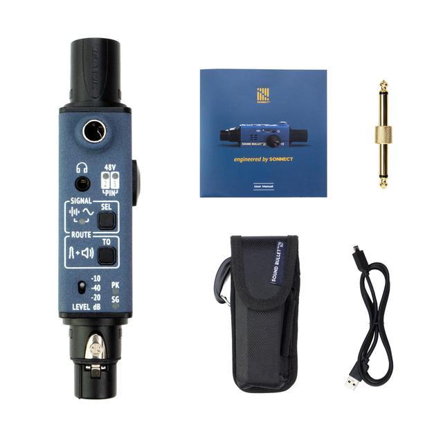 画像5: ポケットサイズで、音声信号や通線の入出力がチェックできる!SONNECT AUDIO社のポータブル型オーディオテスター「サウンドバレット」が発売中