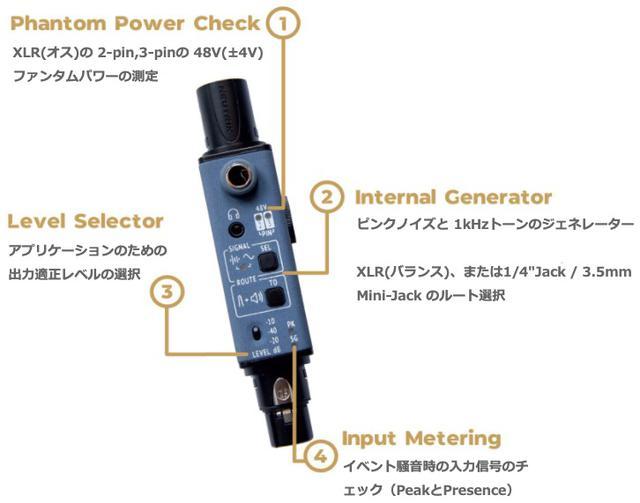 画像6: ポケットサイズで、音声信号や通線の入出力がチェックできる!SONNECT AUDIO社のポータブル型オーディオテスター「サウンドバレット」が発売中