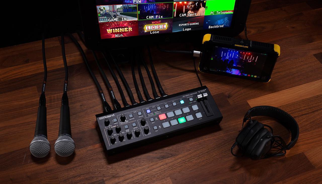 画像: ローランドの新製品、V-1HD+。大ヒットを記録した小型HDMIビデオ・スイッチャー、V-1HDの機能を強化したアップグレード・モデルだ。ライブ配信をはじめ、イベント演出や映像制作など、あらゆる用途に対応する